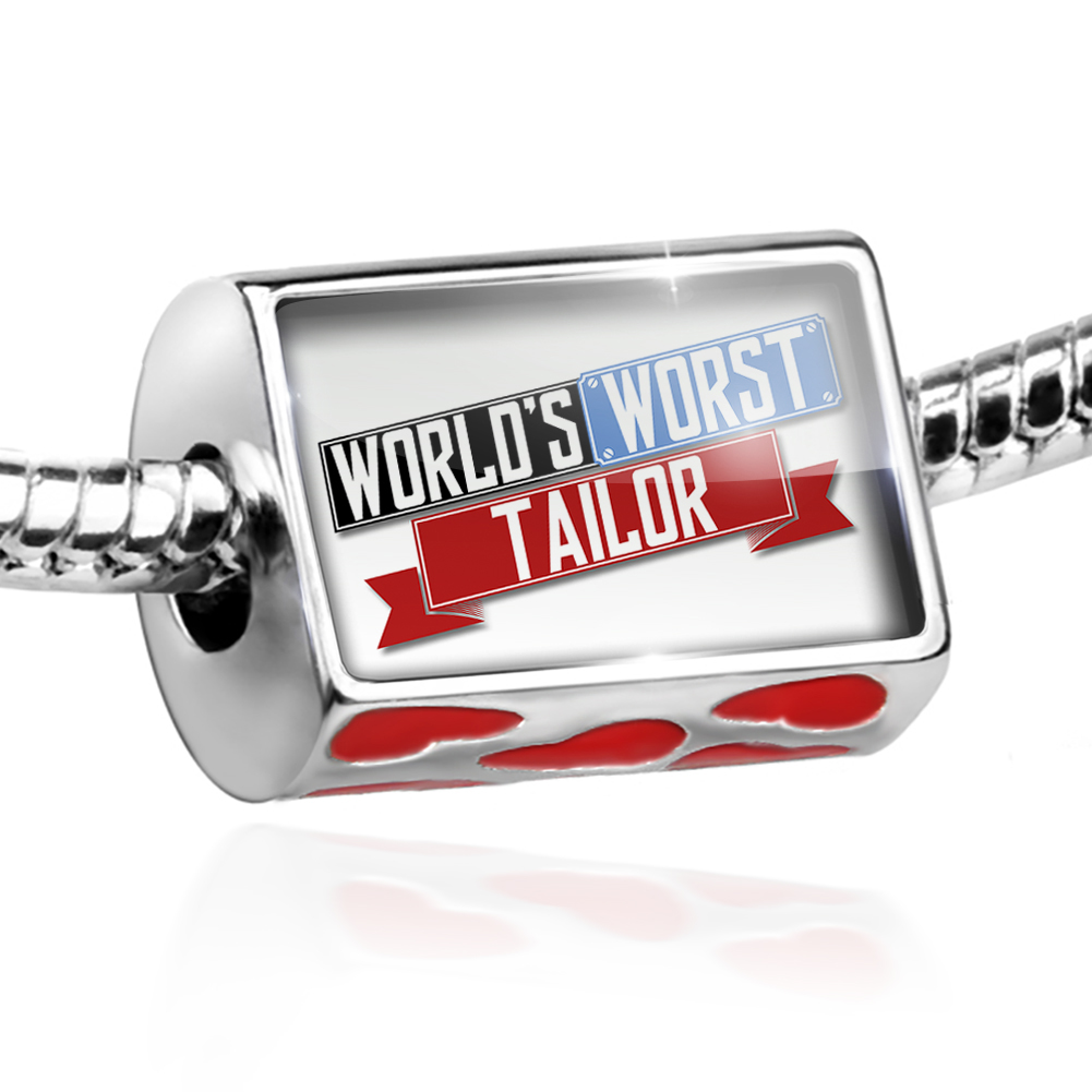 Bead Funny Worlds worst Tailor Charm Fits All European Bracelets