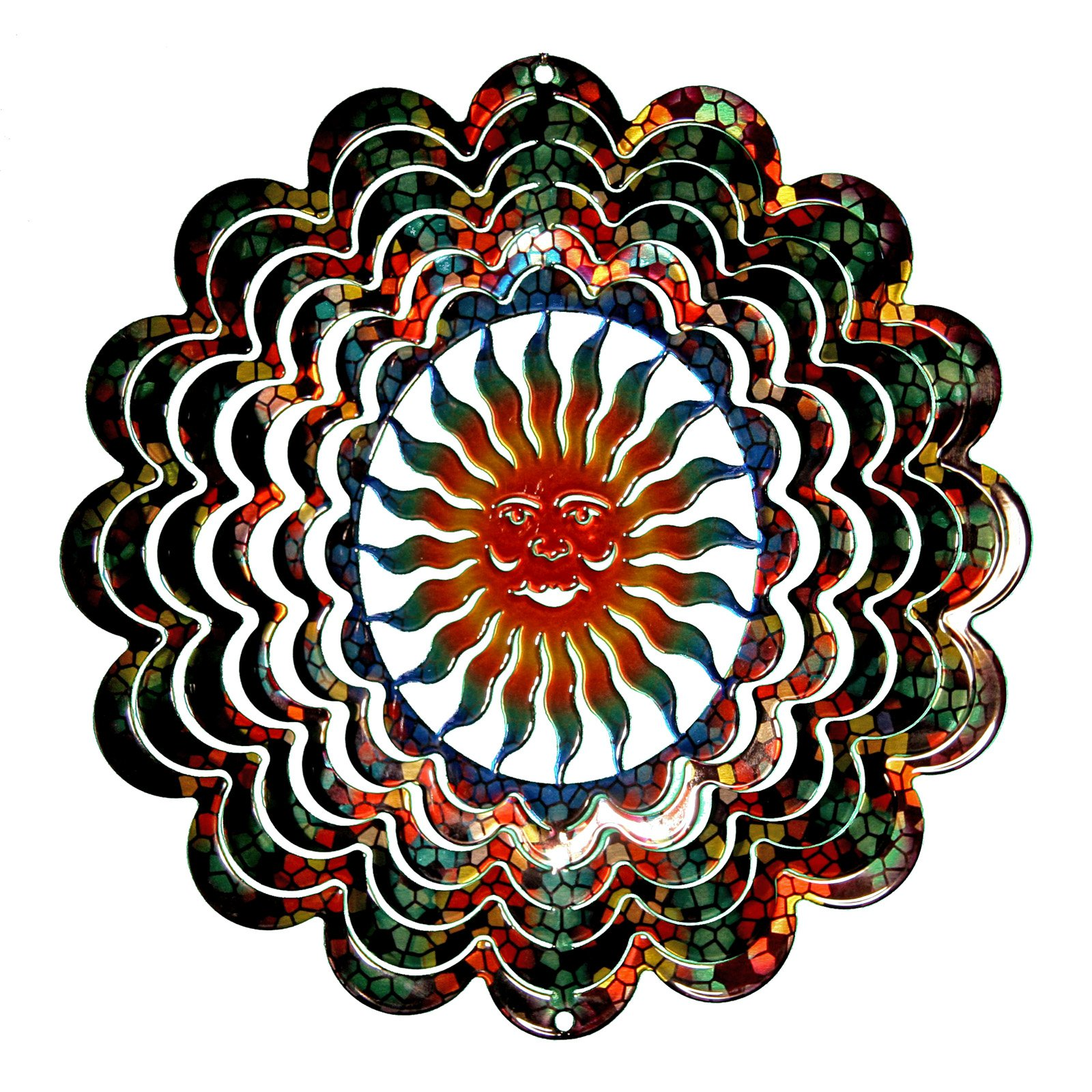 Next Innovations Kaleidoscope Sun Face Wind Spinner by Wind Spinners