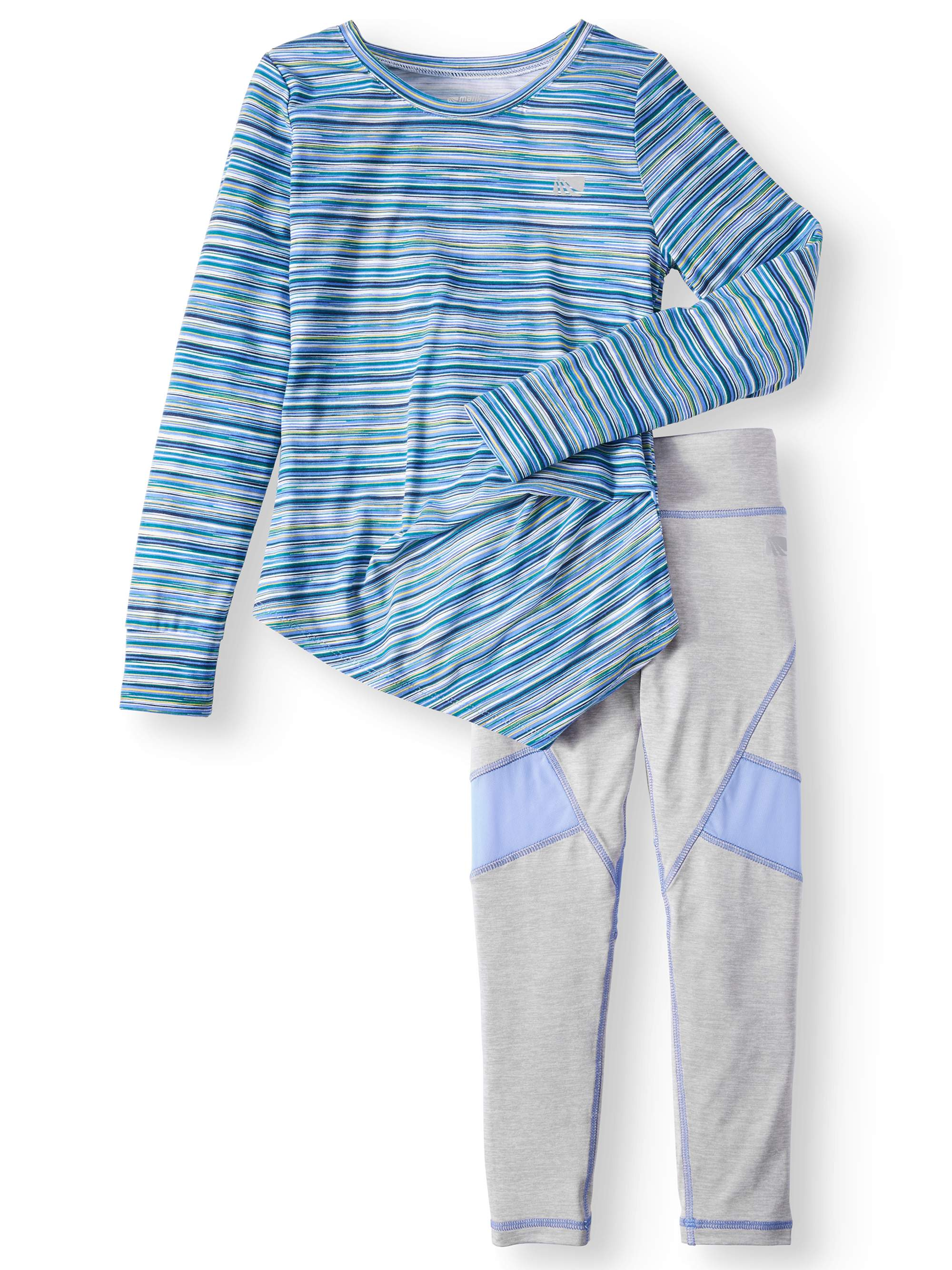 Marika Performance Side Knotted Top & Legging, 2-Piece Active Set (Little Girls & Big Girls)