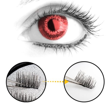 3D Magnetic Eyelash Glue Free Eyelashes 4 Pieces Recycle DIY False Eyelashes - image 5 de 7