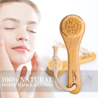 ZEDWELL Facial Cleansing Brush Bamboo Hair Facial Cleansing Massage Face Care Brush Deep Pore Cleansing