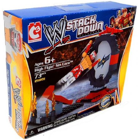 Sin Cara Costumes (WWE Wrestling Stack Down Universe Building Toy Set #21001 High Flyin' Sin Cara, Figures are 1. 5 inches tall! By C3 Ship from)
