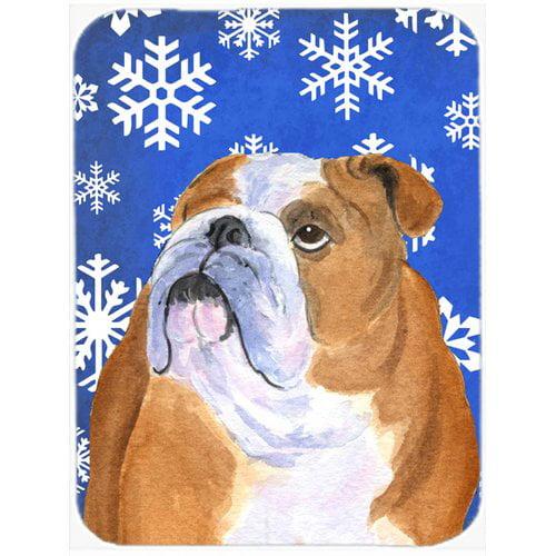 The Holiday Aisle Ashlynn English Bulldog Glass Cutting Board