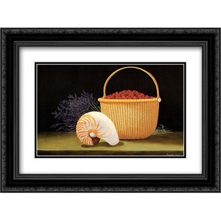Nantucket Harvest - Nantucket Harvest 2x Matted 15x18 Black Ornate Framed Art Print by Robert Duff