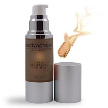 bodyography foundation primer (tahitian glow): bronzing anti-aging salon makeup primer w/ vitamin e, a, jojoba, grapeseed oil | enhance your natural glow | gluten-free,