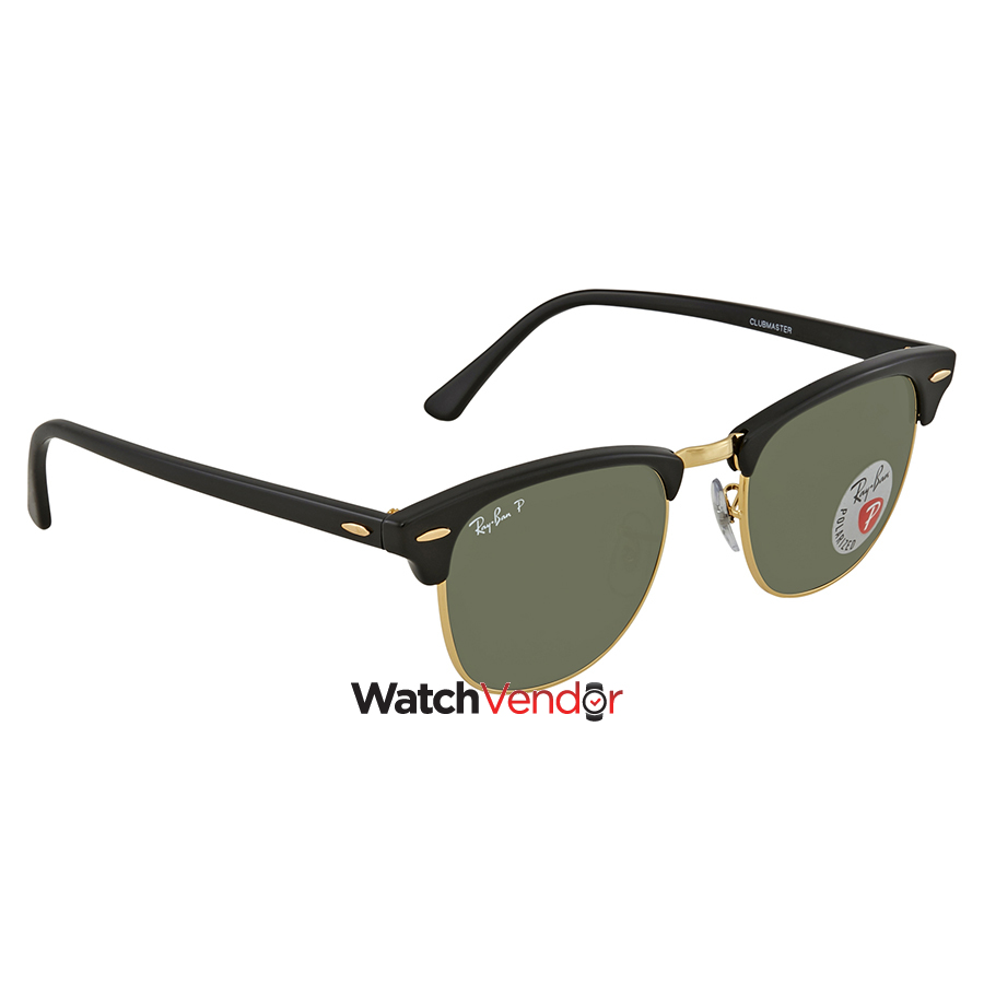 5e773f19b15 Ray Ban Clubmaster Classic Green Classic G-15 Sunglasses RB3016 ...