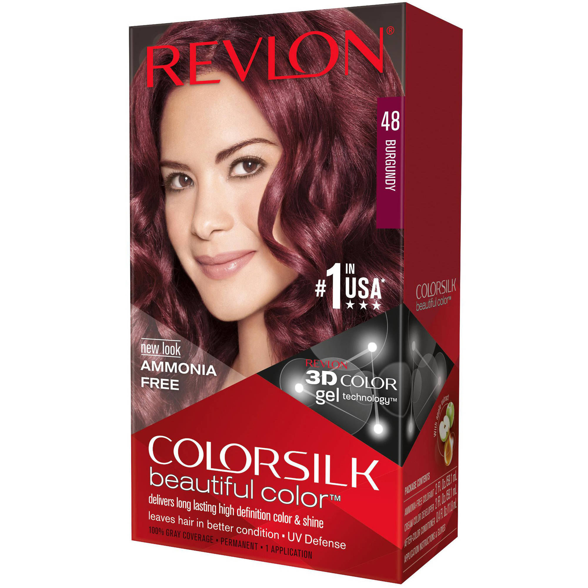 Revlon Colorsilk Beautiful Color Permanent Hair Color, 48 Burgundy