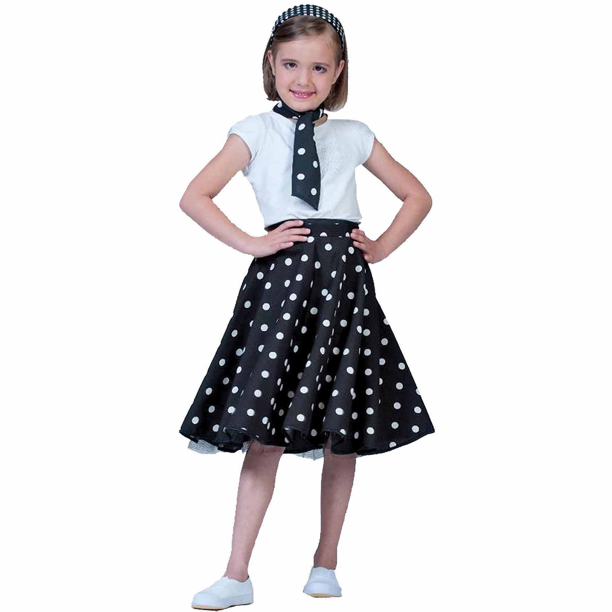 Black Sock Hop Skirt Child Girl Halloween Costume