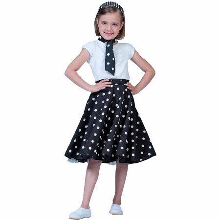 Sock Halloween Costume (Black Sock Hop Skirt Child Girl Halloween)
