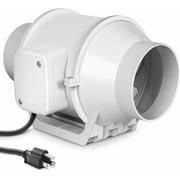 iPower 4'' Inline Duct Fan Mixed Flow Ventilation HVAC Blower Extractor Exhaust