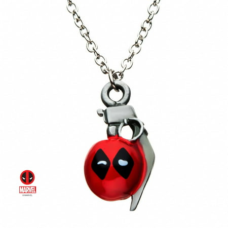 Marvel Deadpool Grenade, Officially Licensed Premium Quality Pendant Necklace](Deadpool Merchandise)