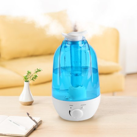 Ultrasonic Cool Mist Humidifier, 4L Air Purifier Humidifiers with Night Light for Baby, Bedroom & Living