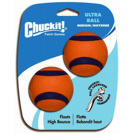 Chuckit! Fetch Games Medium Ultra Balls (Set of 2), Use with Chuckit! Ball Launcher (Launcher sold separately) By Chuck It