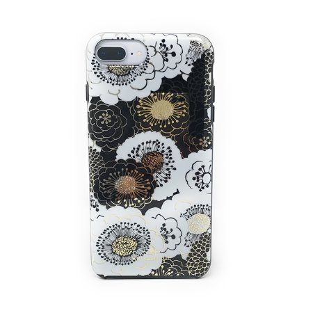 best website b5a94 02f27 Kate Spade New York Floral Case for iPhone 8 Plus / iPhone 7 Plus / iPhone  6 Plus - Black/Gold/White