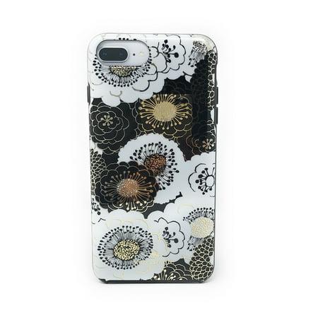 best website 8796a 62d5c Kate Spade New York Floral Case for iPhone 8 Plus / iPhone 7 Plus / iPhone  6 Plus - Black/Gold/White