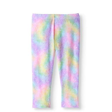 (Girls' Tough Cotton Printed Capri Legging)