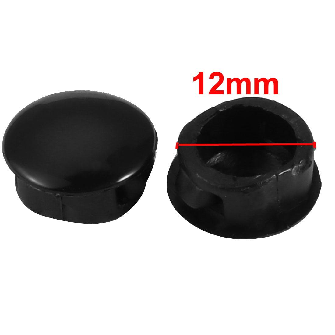 Unique Bargains 20 pcs 12mm Dia Black Plastic Tubing Plug Door and Window Locking Hole Plugs - image 1 de 2