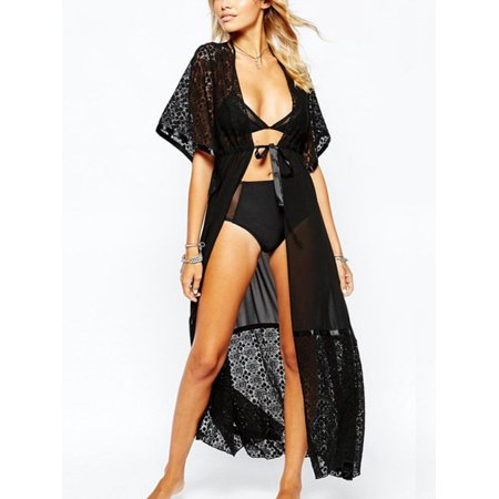 32b56d9c0e Nicesee - Nicesee Bikini Cover Up Beach Dress Lace Cardigans Women ...