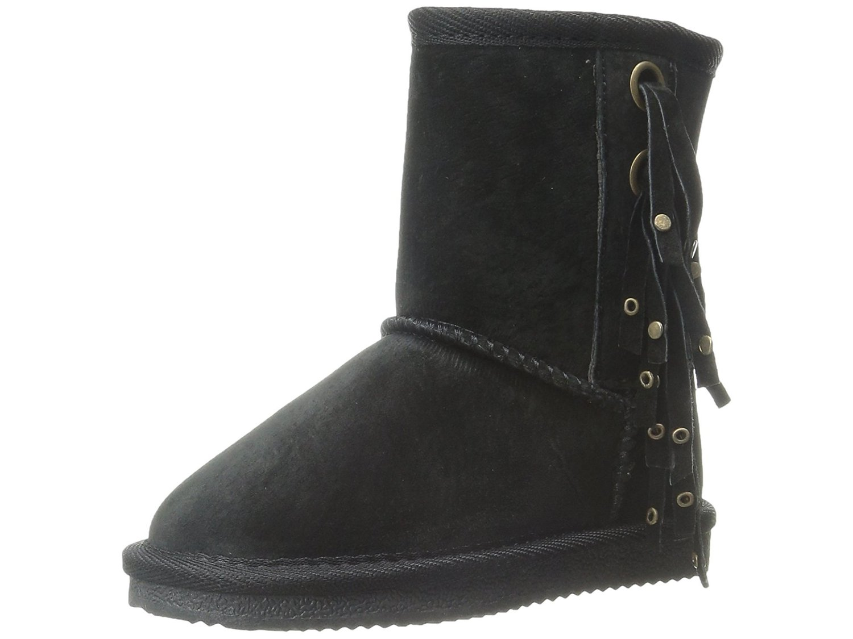 Lamo Kid's Hoodoo Fringe Fashion Boot, Black, Size 10 M US Toddler by Lamo