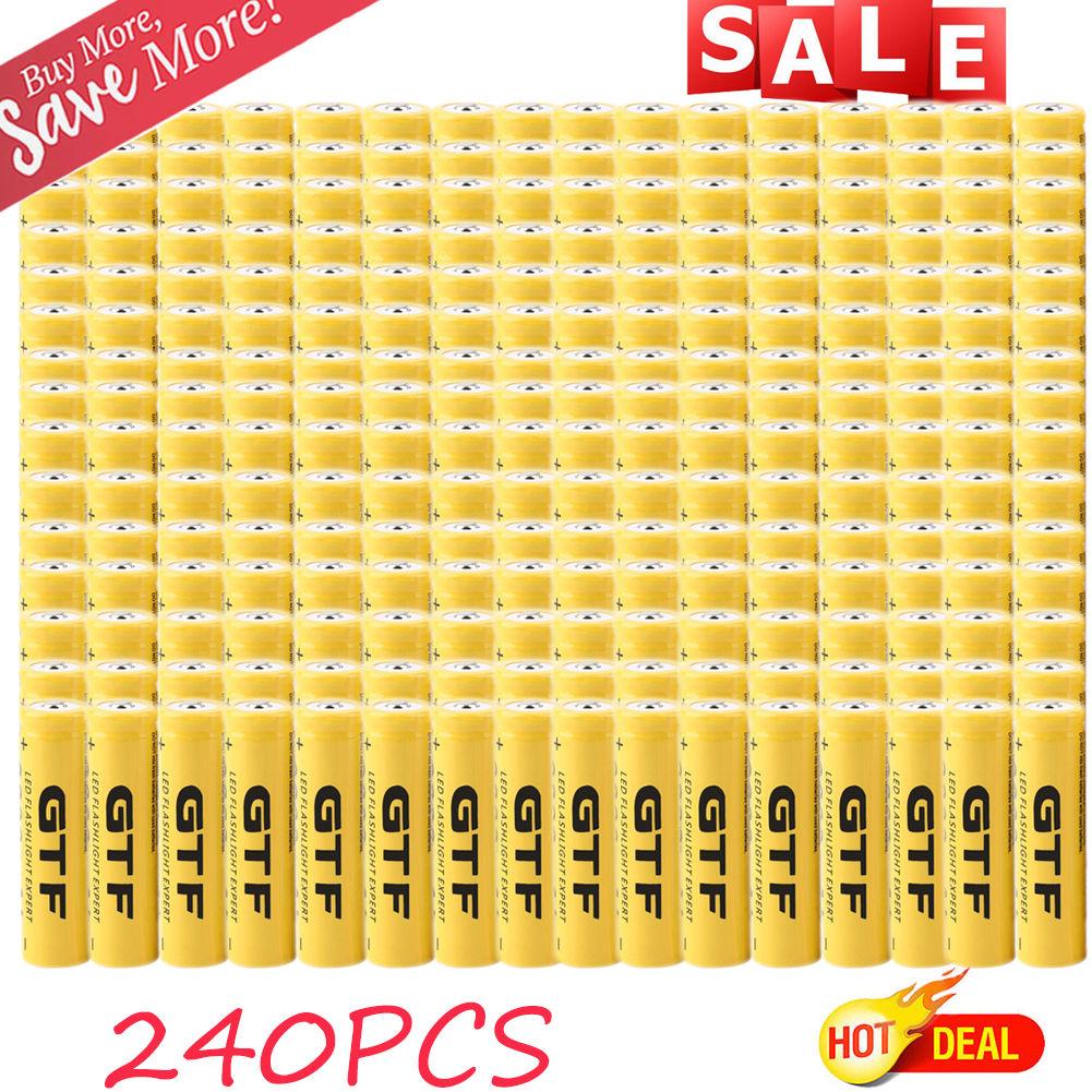 240 pcs Universal 18650 3.7V 9800 mAh Rechargeable Lithiu...