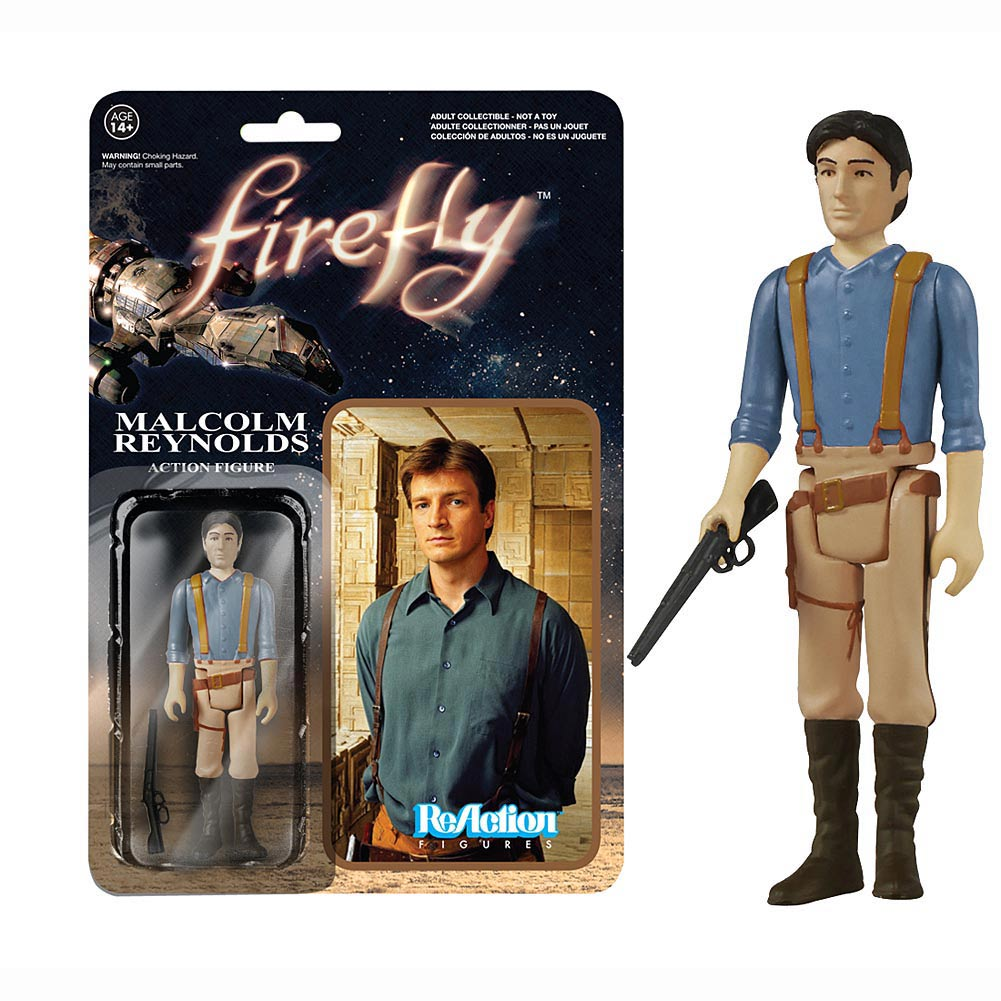 Firefly Malcolm Reynolds ReAction Figure,  Sci-Fi TV by Funko