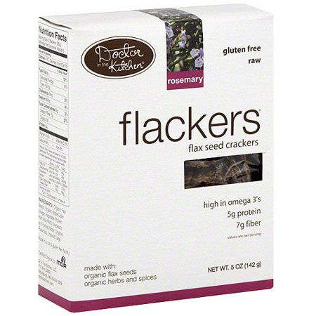 Flackers Rosemary Flax Seed Crackers 5 Oz Pack Of 12
