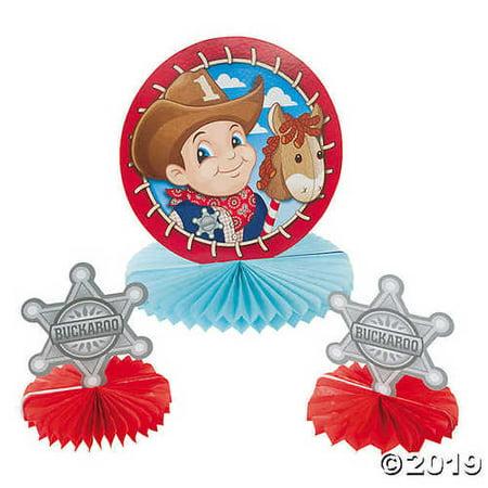 1st Birthday Cowboy Centerpiece Set