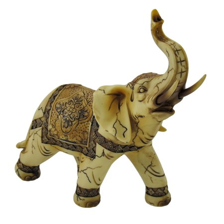 Antique Ivory Look Decorative Elephant Statue