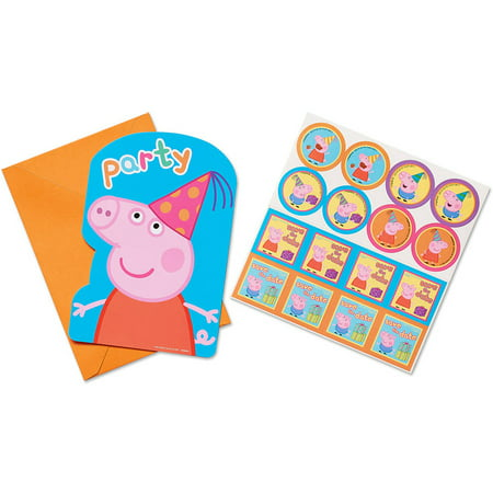 Peppa Pig Birthday Party Invitations 8ct