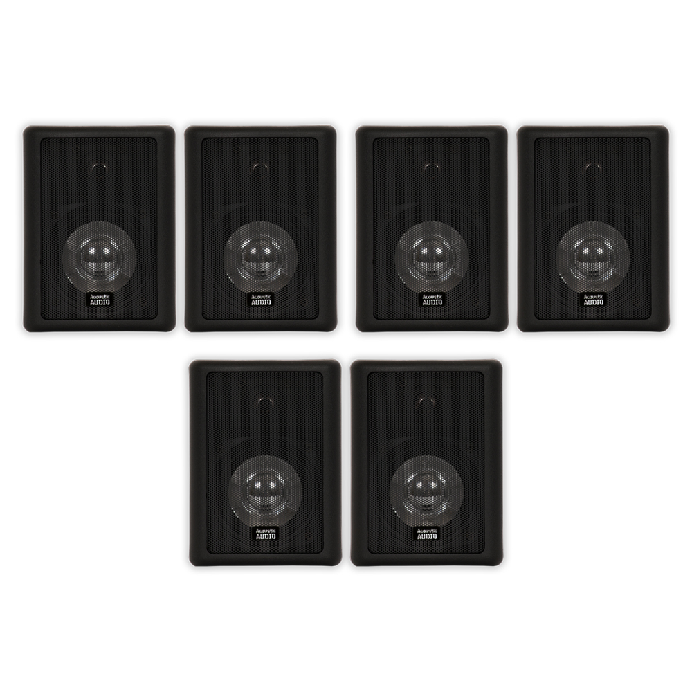 Acoustic Audio 151b Indoor Outdoor 2 Way Speakers 1800 Watt Black 3