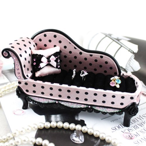 Polka Dot Romance Lounge Chair Ring Holder