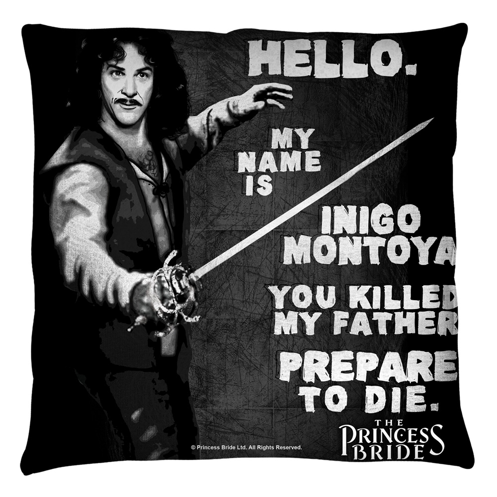 The Princess Bride Hello Again Throw Pillow White 16X16