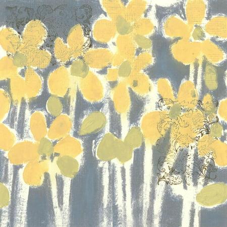 Sunny Breeze IV Yellow Flowers Print Wall Art ()