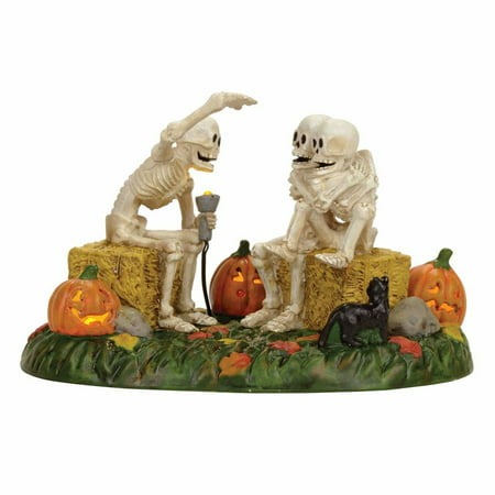 Dept 56 Snow Village Halloween 4056710 Scary Skeleton Stories](Diy Halloween Village)