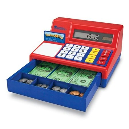 Learning Resources Pretend & Play Calculator Cash Register, Counting Toy