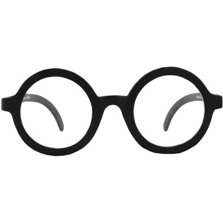 Black Glasses School Boys (Clear Lens) Adult Halloween (Halloween Glasses)