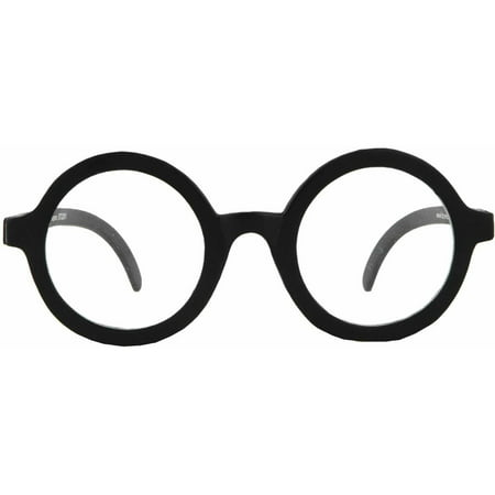 Black Glasses School Boys (Clear Lens) Adult Halloween Accessory
