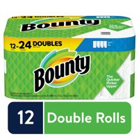 Bounty Select-A-Size Paper Towels, White, 12 Double Rolls, 5.9 inch X 11 inch
