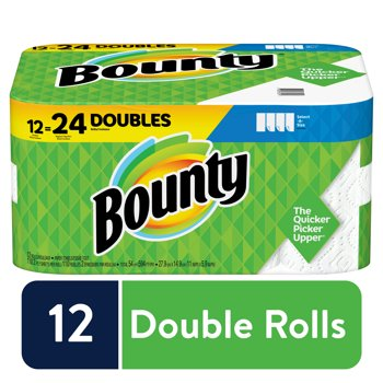 24-Rolls Bounty Select-A-Size Paper Towels