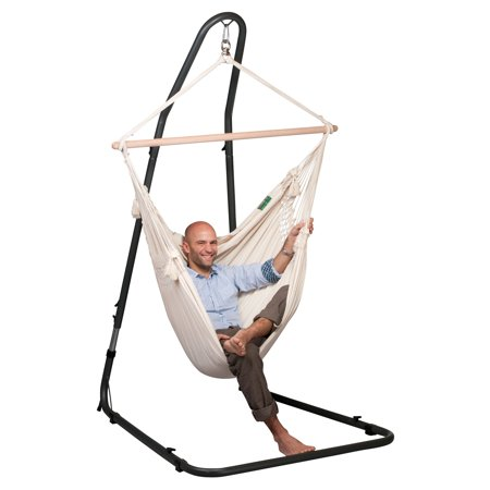 La Siesta Mediterraneo Anthracite Adjustable Hammock Chair Stand