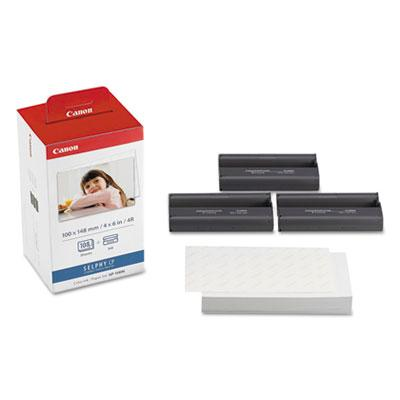 Canon KP-108IN Color Ribbon and Glossy Photo Paper Pack