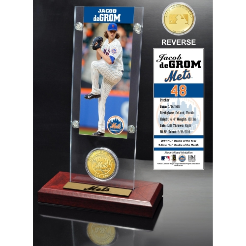New York Mets Jacob deGrom 2015 Player Ticket & Coin - No Size