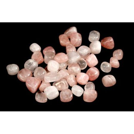 - 1lb Tumbled Pink Rose Quartz Stone Large 1