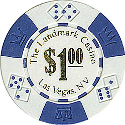 11.5-Gram Landmark Casino Lucky Crown Poker Chips