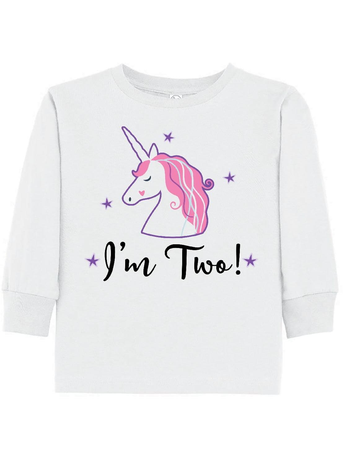 2nd Birthday Unicorn Party Toddler Long Sleeve T-Shirt