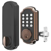 TURBOLOCK TL116 Digital Deadbolt Lock with Keypad, Voice Prompts | Electronic Deadbolt (Single Cylinder) w/Up to 10 Passcodes, Code Disguise, Backup Keys — Ready for Thicker Doors