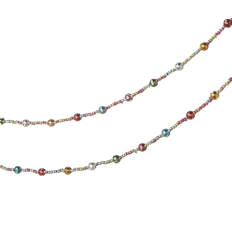 6' Multi-Color Shatterproof Beaded Christmas Garland - Unlit