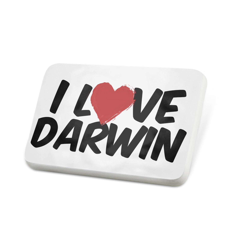 Porcelein Pin I Love Darwin Lapel Badge – NEONBLOND