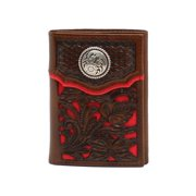 Nocona Western Wallet Classic Mens Trifold Overlay Concho N54263