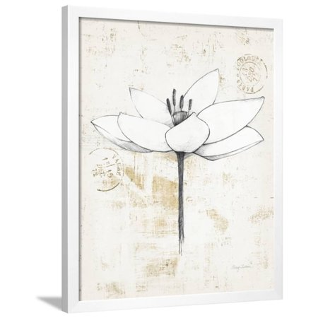 - Pencil Floral I Gold Framed Print Wall Art By Avery Tillmon